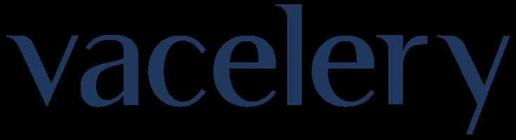 Vacelery logo blue
